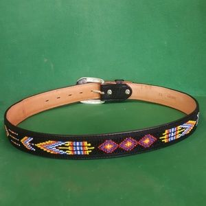"Tony Lama Leather Belt 1.5"" Wide Size 32"
